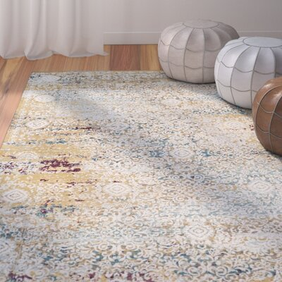 Andy Yellow Area Rug Rug Size: Runner 2 x 8