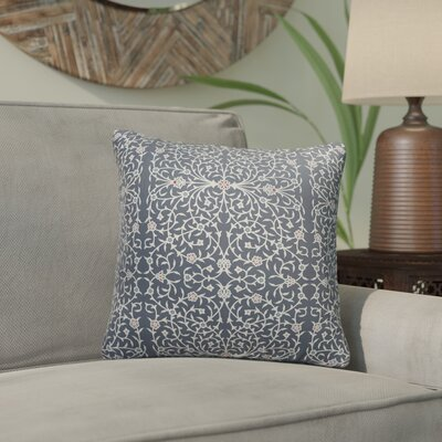 Elizebeth Indoor/Outdoor Throw Pillow Color: Grey/ Ivory, Size: 18 x 18