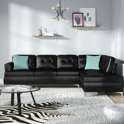 Aura Sectional Upholstery: Black