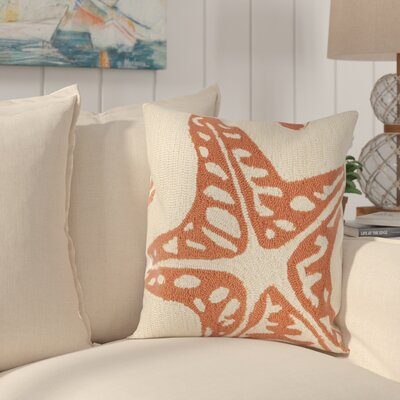 Garibaldi Pillow in Baby Blue Color: Cream / Tropical Orange