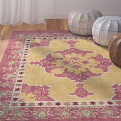 Marco Red/Yellow Area Rug Rug Size: 8 x 10
