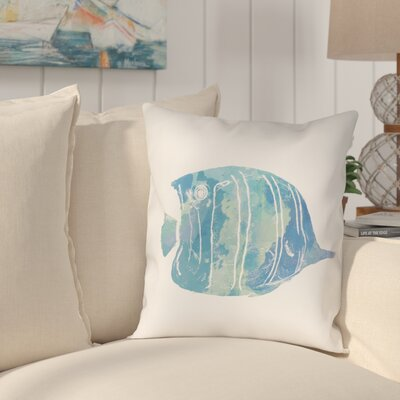 Colgate Watercolor Fish I Outdoor Throw Pillow