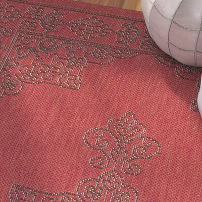 Amedee Red Indoor/Ourdoor Area Rug Rug Size: Rectangle 8 x 11