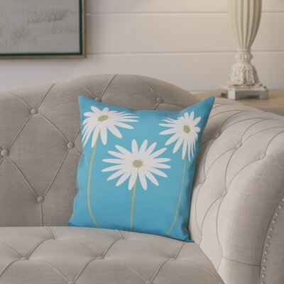 Omar Floral Print Throw Pillow Size: 16 H x 16 W x 1 D, Color: Caribbean