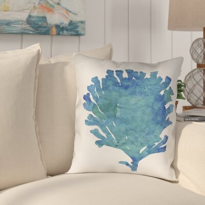 Wainwright Aquamarine Coral Outdoor Throw Pillow