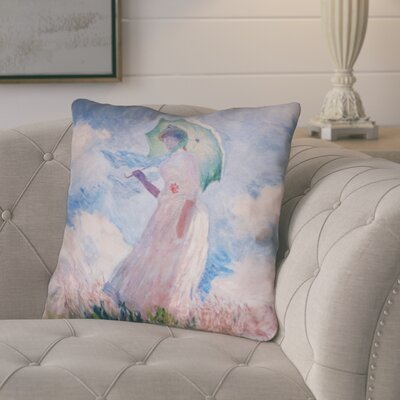 Elwyn Watercolor Woman with Parasol Rectangular Throw Pillow