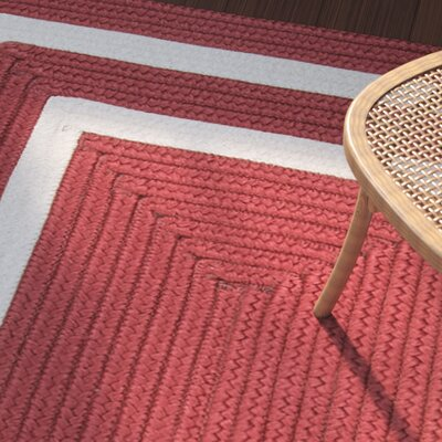 Marti Hand-Woven Outdoor Red Area Rug Rug Size: Runner 2 x 12