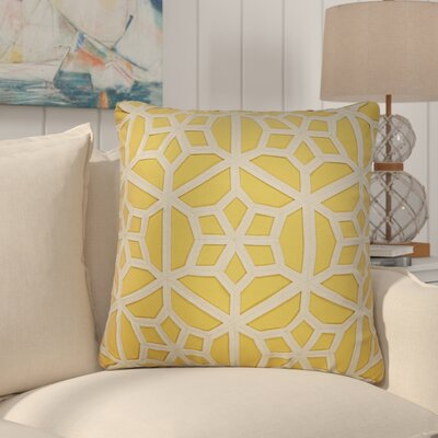 Bonham Geometric Pattern Down Fill Throw Pillow Color: Yellow / Taupe