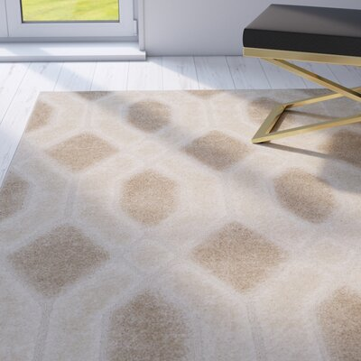 Archway Beige Area Rug Rug Size: Rectangle 4 x 6