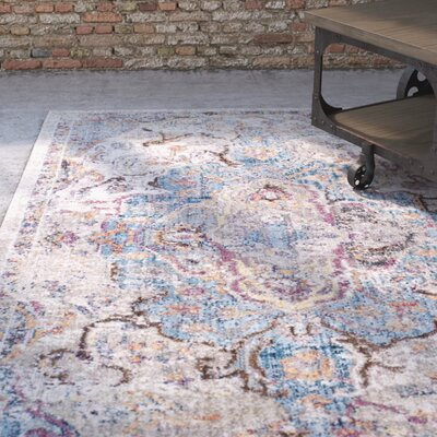Arapaho Blue/Light Gray Area Rug Rug Size: Rectangle 4 x 6