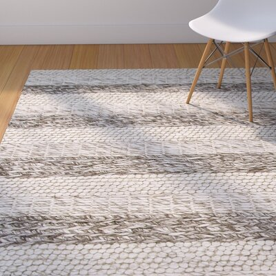 Sherwood Hand-Tufted Wool Gray/White Landscape Area Rug