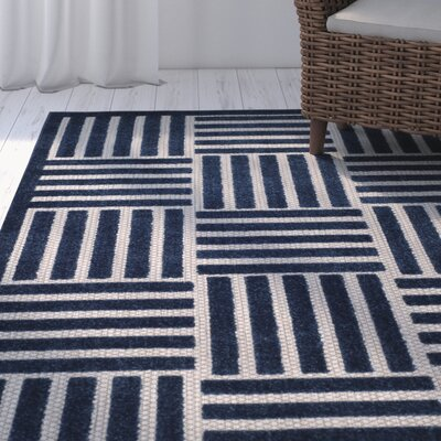 Zaniyah Blue Indoor/Outdoor Area Rug Rug Size: Rectangle 4' x 6'