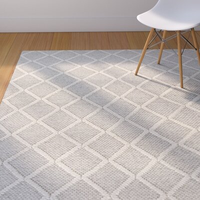 Sherwood Diamonds Hand-Tufted Gray Area Rug Rug Size: 33 x 53