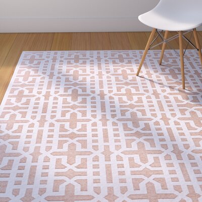 Drew Brown/White Area Rug Rug Size: Rectangle 76 x 106