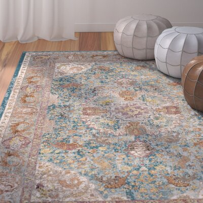 Andy Blue Area Rug Rug Size: Rectangle 9 x 12