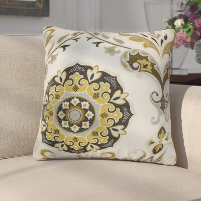 Cervin Cotton Throw Pillow Color: Chinchilla, Size: 20 x 20