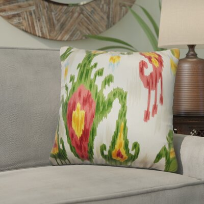 Bringewood Ikat Cotton Throw Pillow Color: Jewel, Size: 20 x 20