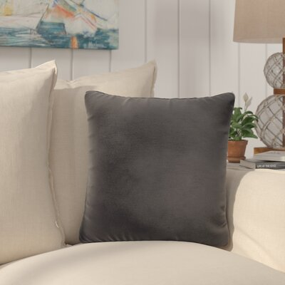 Saxon Indoor/Outdoor Throw Pillow Size: 18 H x 18 W x 6 D, Color: Black