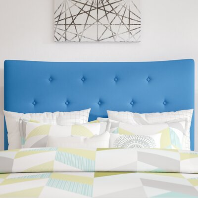 Dedrick Full Upholstered Panel Headboard Upholstery: Blue, Size: Full