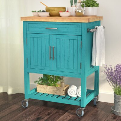 Seepa Kitchen Cart Base Finish: Teal