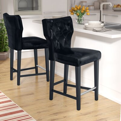 Laughing Sun 25 Bar Stool Upholstery: Black