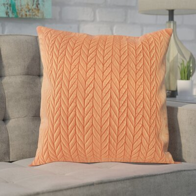 Brott Throw Pillow Color: Orange