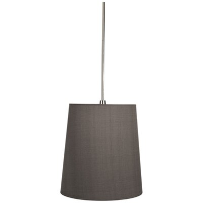 Rico Espinet Buster 1-Light Mini Pendant Finish: Polished Nickel, Shade Color: Smoke Gray