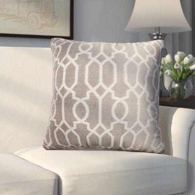 Longview Decorative Throw Pillow Color: Silver