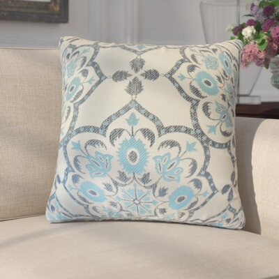 Chapell Geometric Throw Pillow Cover Color: Blue