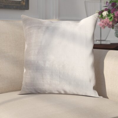 Parkison Decorative Silk Throw Pillow Color: Gray
