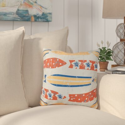 Cobscook Geometric Outdoor Throw Pillow Color: Yellow