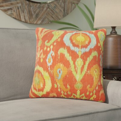Brislington Ikat Cotton Throw Pillow Cover Color: Flame