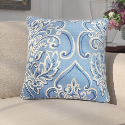 Chancellor Floral Throw Pillow Cover Color: Blue