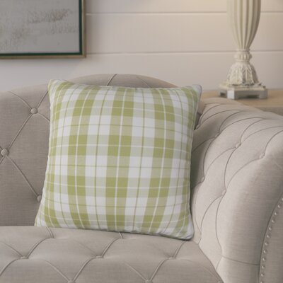 Joan Plaid Cotton Throw Pillow Cover Color: Sage