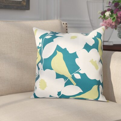 Franca Modfloral Floral Print Throw Pillow Size: 18 H x 18 W, Color: Teal