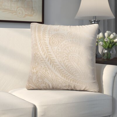 Longview Paisley Decorative Throw Pillow Color: Champagne