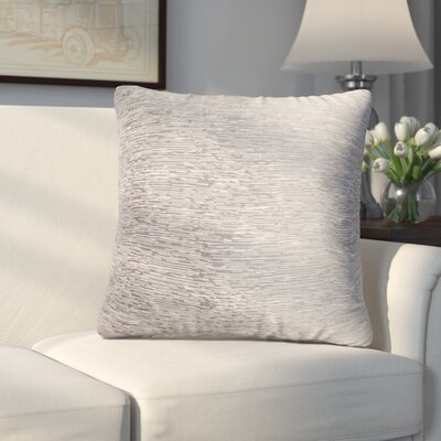 Longview Solid Decorative Throw Pillow Color: Silver