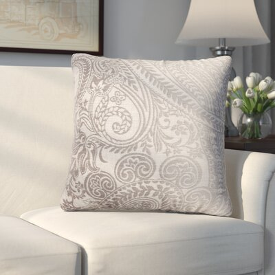 Longview Paisley Decorative Throw Pillow Color: Silver