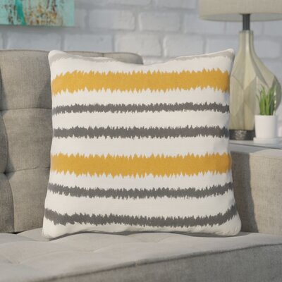 Arrey Vertical Stripes Linen Throw Pillow Size: 22 H x 22 W x 4 D, Color: Papyrus/Flint Gray/Hot Cocoa, Filler: Down