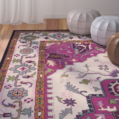 Blokzijl Hand-Tufted Wool Purple Area Rug Rug Size: Rectangle 26 x 4