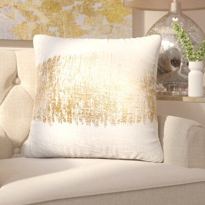 Boughner Decorative Throw Pillow Color: Gold