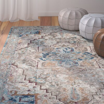 Andy Beige Area Rug Rug Size: Rectangle 4 x 6