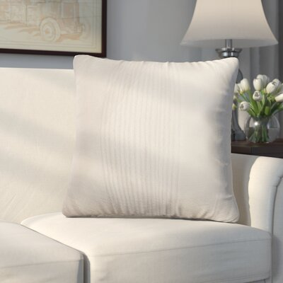 Longview Stripe Decorative Throw Pillow Color: White