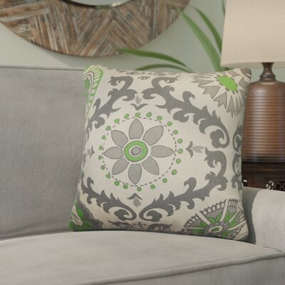 Brindalla Cotton Throw Pillow Color: Organic Green, Size: 24 x 24