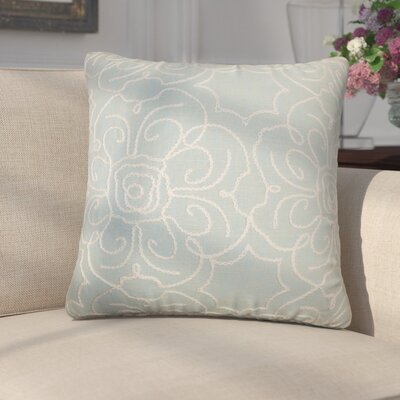 Chalda Floral Throw Pillow Color: Aqua, Size: 22 x 22