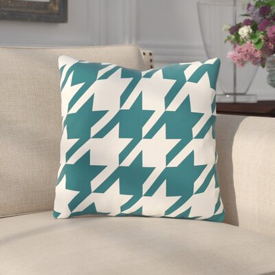 Bryant Geometric Outdoor Throw Pillow Color: Teal