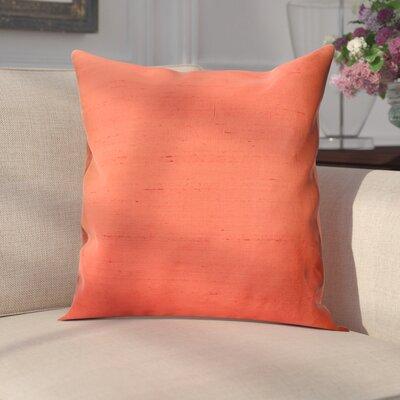 Parkison Decorative Silk Throw Pillow Color: Orange