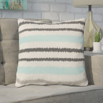 Arrey Vertical Stripes Linen Throw Pillow Size: 18 H x 18 W x 4 D, Color: Papyrus/Pewter/Flint Gray, Filler: Down