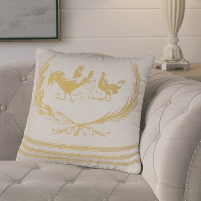 Jamie Decorative 100% Cotton Throw Pillow