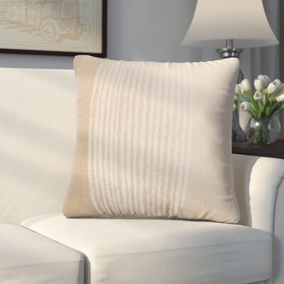Longview Stripe Decorative Throw Pillow Color: Champagne
